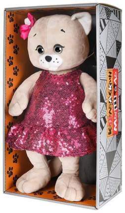 Мягкая игрушка животное Колбаскин&Мышель Мышель в красном платье с пайетками 25см