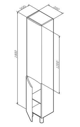 Шкаф для ванной AM.PM M80CSL0356WG