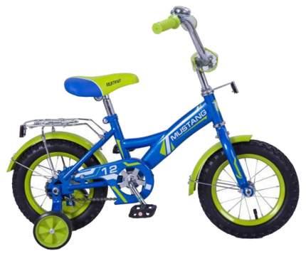 Велосипед детский Mustang сине-салатовый