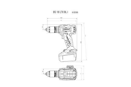 Аккумуляторная безударная дрель-шуруповерт Metabo 602350800
