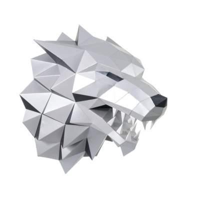 """Трофейная голова Paperraz """"ЛЮТОВОЛК"""" (серый)"""
