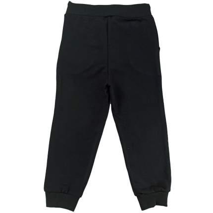Брюки Папитто футер черные с карманами, на манжетах, размер 110