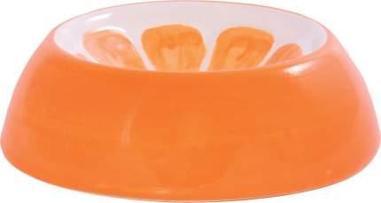 Миска для грызунов КерамикАрт Апельсин, керамическая, оранжевая, 10мл