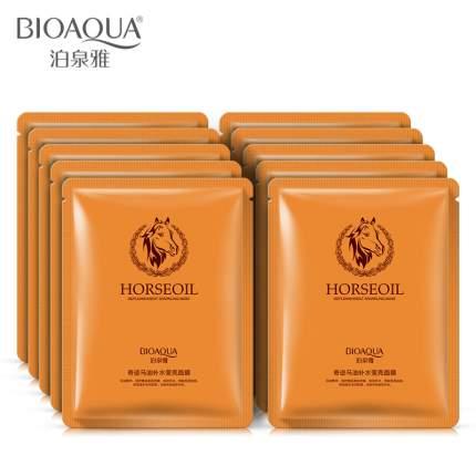 Увлажняющая маска BioAqua с лошадиным маслом Horseoil, 30 гр.