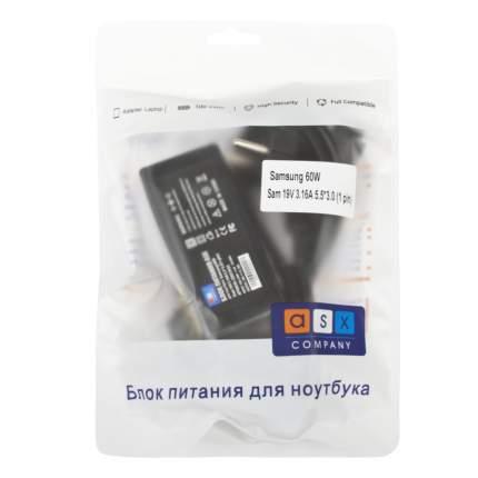 Блок питания ASX для ноутбука Samsung 60W (Sam 19V 3,16A 5,5*3,0 (1 pin))