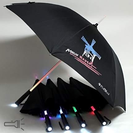Зонт-трость механический Flioraj 300804 FJ черный