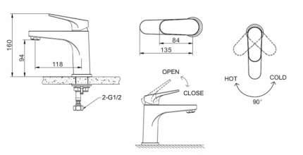 Смеситель Bravat Eler F1191238CP-RUS для раковины
