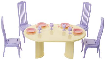 Мебель для кукол Огонек Столовая Маленькая принцесса