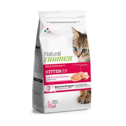 Сухой корм для котят TRAINER Natural Kitten, от 1 до 6 месяцев, курица, 0,3кг