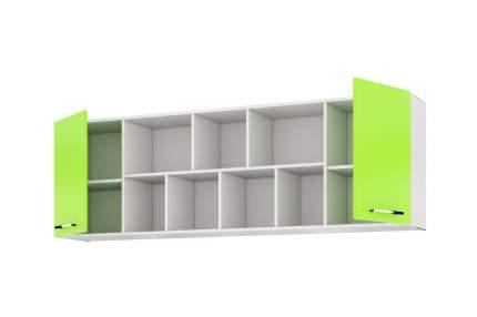 Платяной шкаф Hoff Сан-Франциско 80302476 204,4х35,6х65,6, белый глянец/зелёный глянец