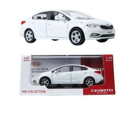 Коллекционная модель Hyundai-KIA (1:38 cerato) цвет white black pearl A7F70AQ138WBP