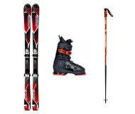 Горные лыжи, ботинки и крепления