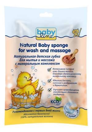 Натуральная детская губка babyline для мытья и массажа с минеральным комплексом