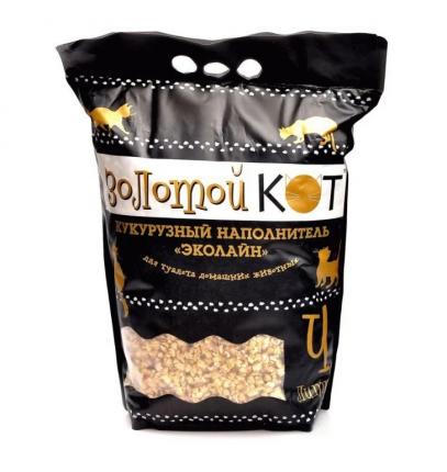 Впитывающий наполнитель Золотой кот кукурузный, 2 кг, 4 л