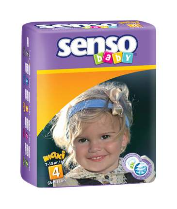 Подгузники Senso Baby Maxi 4 (7-18 кг), 58 шт.