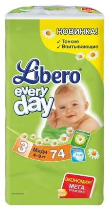 Подгузники Libero Everyday Midi 3 (4-9 кг), 74 шт.
