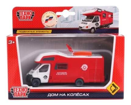 Машинка пластиковая Технопарк Дом на колесах красный