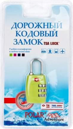Замок для багажа кодовый Polar салатовый 800717