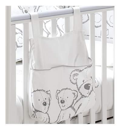 Текстильный карман в детскую кроватку Italbaby Teddy Toys белый