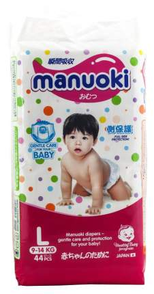 Подгузники-трусики Manuoki размер L (9 -14 кг) 44 шт.