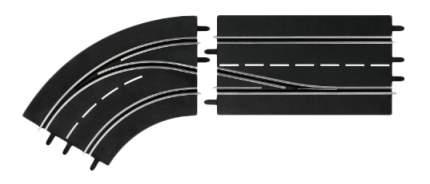 Автотрек Carrera Поворот слева со сменой полосы, с внешней на внутреннюю