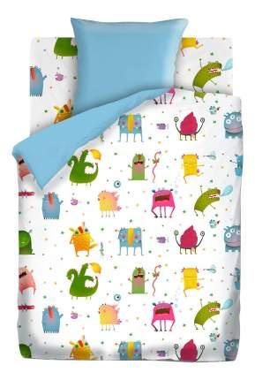 Комплект детского постельного белья Непоседа 1,5 бязь КПН-10 с наволочкой 70х70 Монстрики