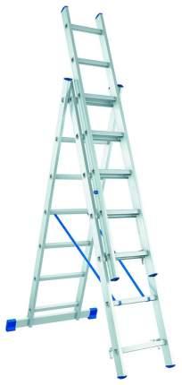 Лестница, 3 х 7 ступеней, алюминиевая, трехсекционная // СИБРТЕХ // Pоссия 97817