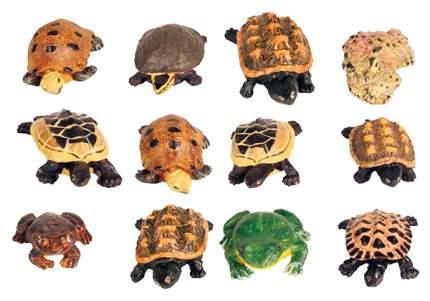 Грот для аквариума TRIXIE Frogs and Tortoises Черепахи и лягушки, 8х8х4 см, 12 шт