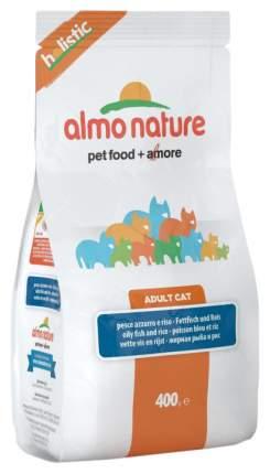 Сухой корм для кошек Almo Nature Holistic, белая рыба и коричневый рис, 0,4кг