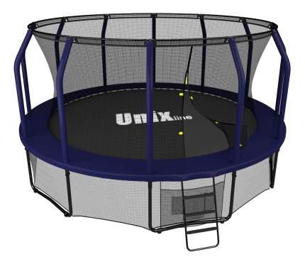 Батут Unix Line Supreme с сеткой и лестницей 488 см, blue