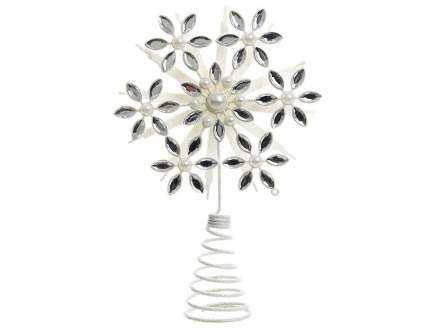 Kaemingk Верхушка Снежинка Цветок 21 см белая 518512