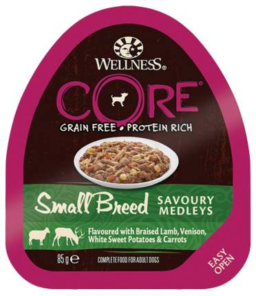 Консервы для собак Wellness CORE, баранина и оленина, 85г