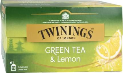 Чай зеленый Twinings с лимоном 25 пакетиков