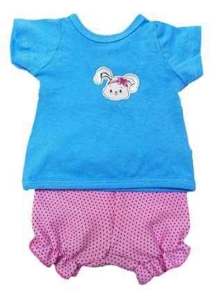 Футболка и шорты Зайка 38-43 см 201 для кукол Mary Poppins