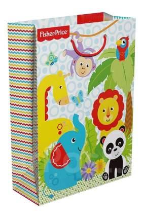 """Пакет подарочный бумажный R34985 """"Фишер Прайс"""" 25x9x35см"""