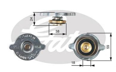 Крышка системы охлаждения Gates RC115