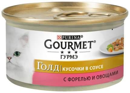 Консервы для кошек Gourmet Gold, рыба, 24шт, 85г
