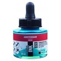 Акриловые чернила Royal Talens Amsterdam №522 синий бирюзовый 30 мл