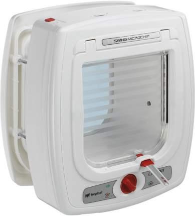 Дверца для животных Ferplast Swing Microchip, белая, 13,5х13,7см