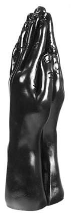 Две сомкнутые ладони для фистинга Mister B Dark Crystal Christian Dildo Black 32 см