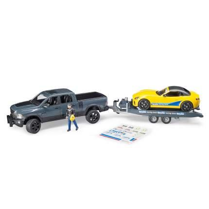 Внедорожник Ram с автомобилем Roadster Bruder 02-504