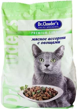 Сухой корм для кошек Dr.Clauder's Premium Cat Food, мясное ассорти, овощи, 0,4кг