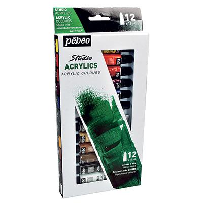 Акриловые краски Pebeo Studio Acrylics 668200 12 цветов