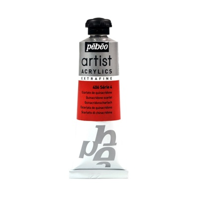 Акриловая краска Pebeo Artist Acrylics extra fine №4 алый хинакридон 37 мл