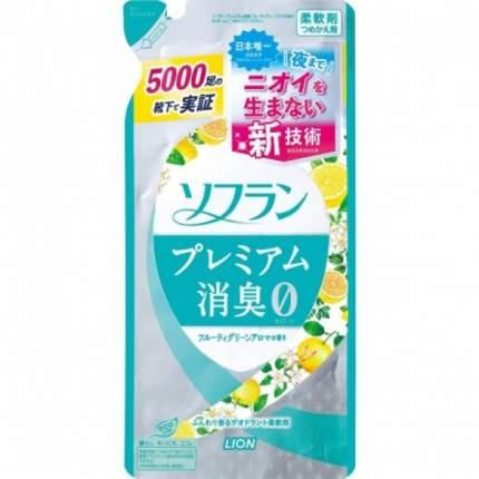 Кондиционер для белья Lion Soflan Premium с цитрусовым ароматом мягкая упаковка 450 мл