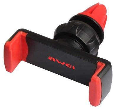 Автомобильный держатель для телефона на воздуховод Awei X1-RED Black/Red