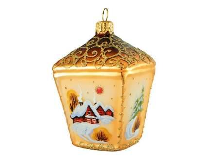 Елочная игрушка Золотой звон 10 см 1 шт 616.7-ариель