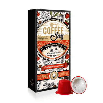 Кофе в капсулах Coffee Joy клубника со сливками