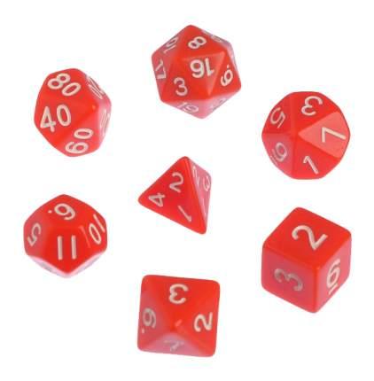 Классический набор дайсов, набор из 7 костей, красные Sima-Land