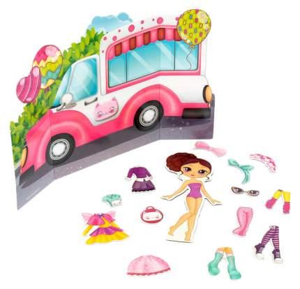 Магнитный набор с куклой, фоном и наклейками Милашка Сью Happy Valley